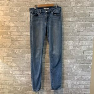 Levi's 411 Skinny Medium Wash 28x34 Jean
